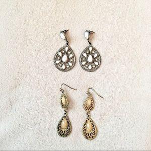 Earrings cute boho fall gold